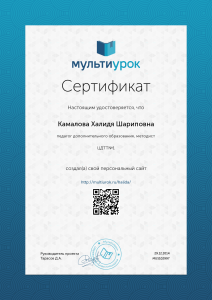 Сертификат Камалова Халидя Шариповна (1)