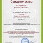Сертификат проекта infourok.ru № ДВ-281586