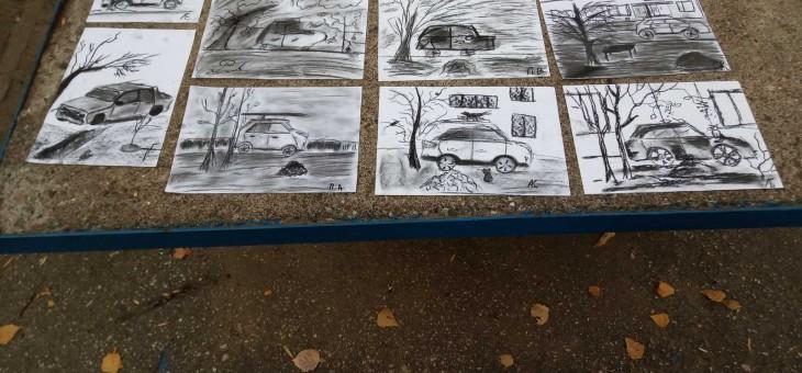 Пленэр на тему «Графическое рисование углем»